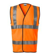 Malfini Bezpečnostní vesta unisex Rimeck HV Bright 9V3 fluorescenční oranžová M
