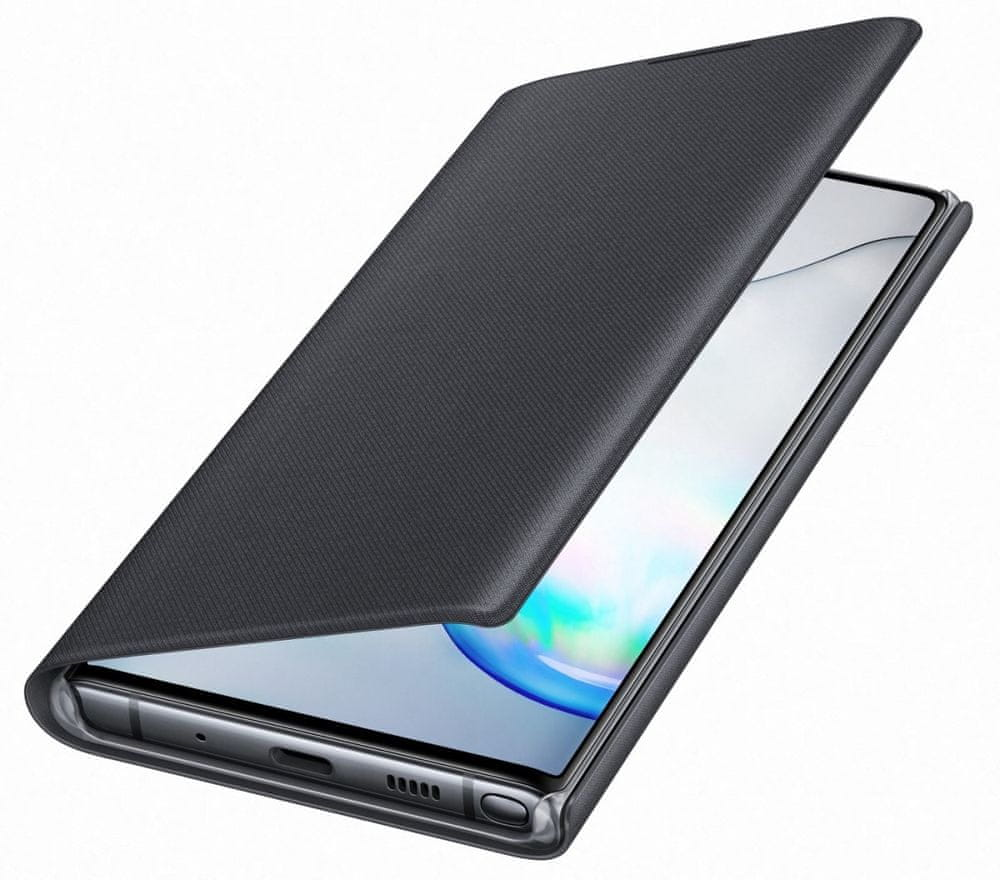 Samsung Flipové pouzdro LED View pro Galaxy Note 10, černá (EF-NN970PBEGWW) - rozbaleno