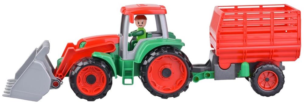 LENA Truxx traktor nakladač s přívěsem na seno