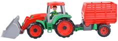 LENA Truxx traktor rakodó széna utánfutóval