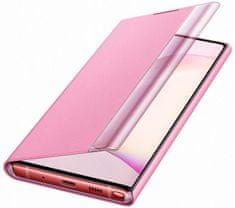 Samsung flip ovitek z Clear View za Galaxy Note 10, roza (EF-ZN970CPEGWW)