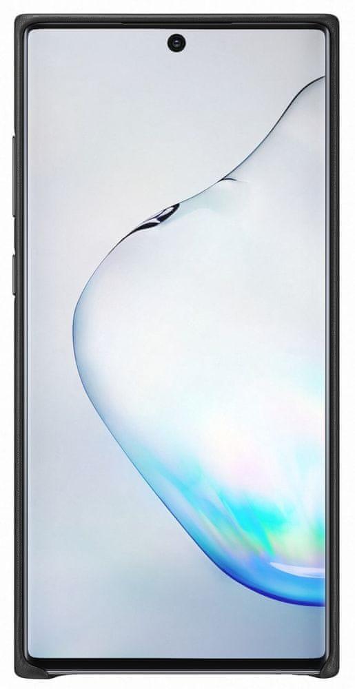Samsung Kožený zadní kryt pro Galaxy Note 10+, černá (EF-VN975LBEGWW)