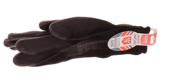 """Extol Premium Rukavice z polyesteru polomáčené v PU, černé, velikost 10"""""""