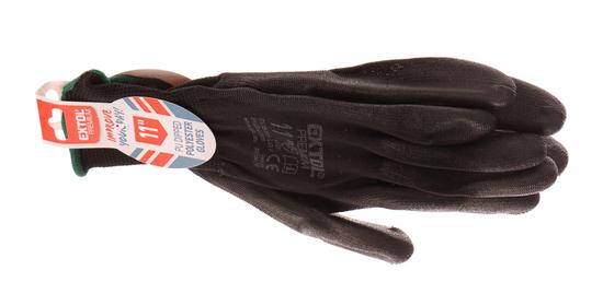 """Extol Premium Rukavice z polyesteru polomáčené v PU, černé, velikost 11"""""""