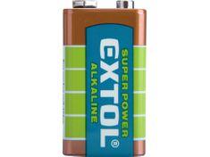 Extol Light Baterie alkalické, 1ks, 9V (6LR61)