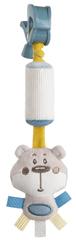 Canpol babies pluszowa zabawka z dzwoneczkiem i klipsem Pastel Friends - szary niedźwiadek