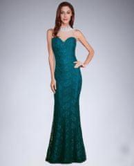 Stylomat Krajkové šaty s perličkami zelené, velikost XL