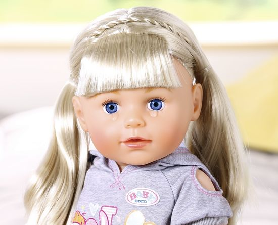 BABY born lalka starsza siostra Soft Touch blondynka, 43 cm