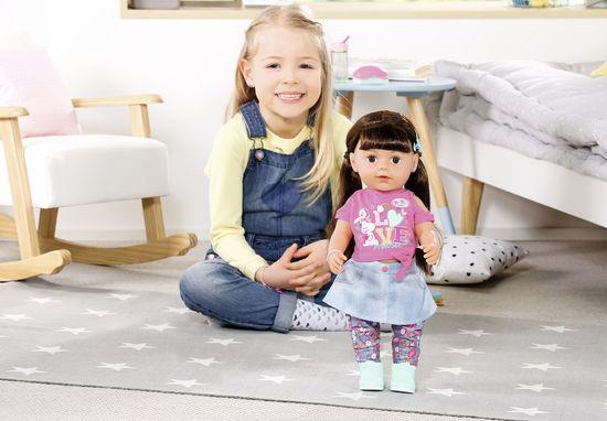 BABY born starejša sestra Soft Touch rjavolaska, 43 cm