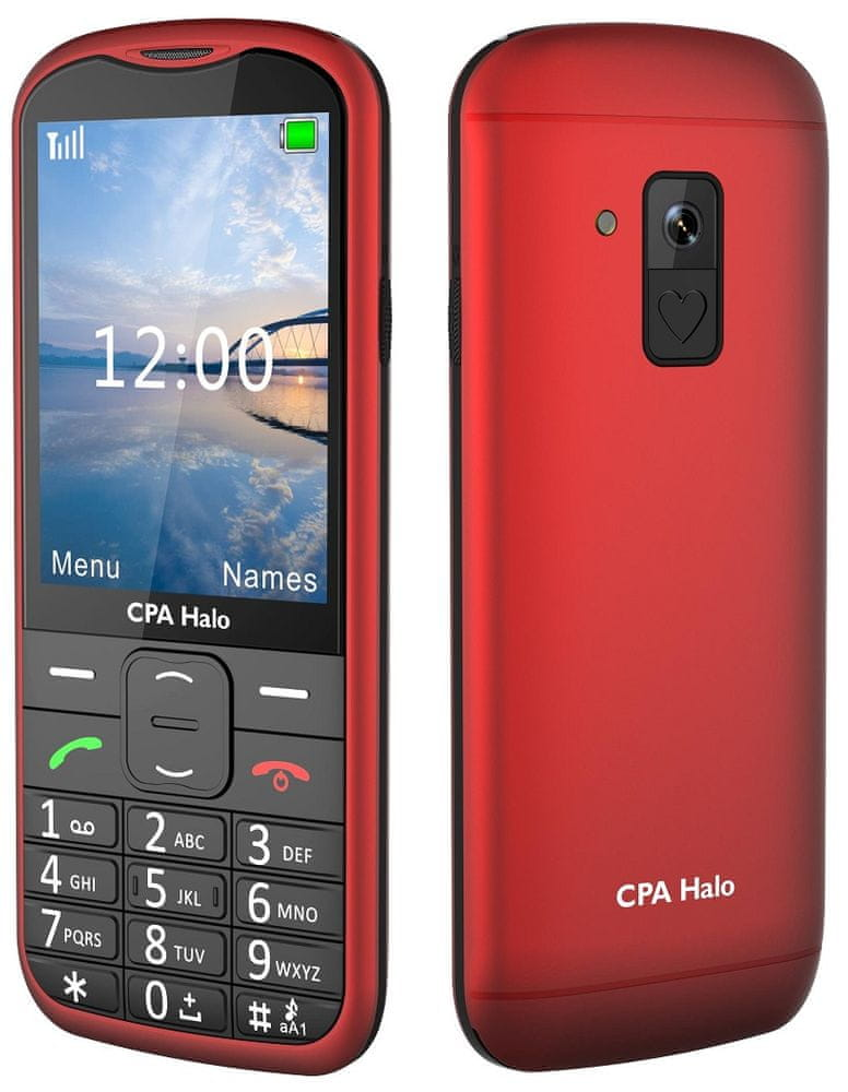 CPA Halo 18 Senior červený s nabíjecím stojánkem - rozbaleno