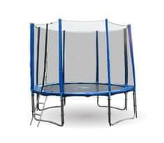 Goodjump GoodJump 4UPVC modrá trampolína 366 cm s ochrannou sítí + žebřík + krycí plachta