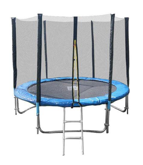 Goodjump GoodJump 3UPE trampolína 244 cm s ochrannou sítí + žebřík + krycí plachta