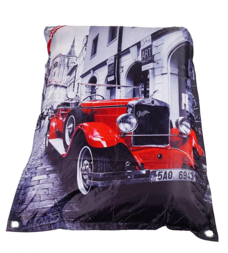 Beanbag Designový sedací vak 189x140 Prague s popruhy