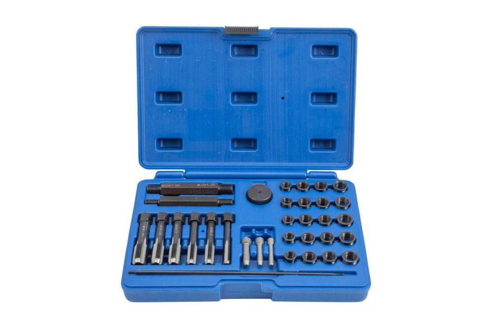 QUATROS Sada na opravu závitů žhavicích svíček M8x1, M10x1, M10x1.25, M12x1.25, 33 kusů