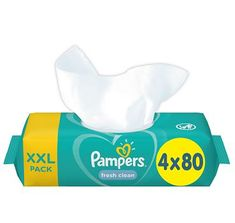 Pampers Vlhčené ubrousky XXL Fresh Clean 4x80ks