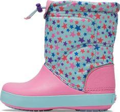 Crocs CB LodgePoint Graphic WntrBt K Ice lány hótaposó 29,5 rózsaszín