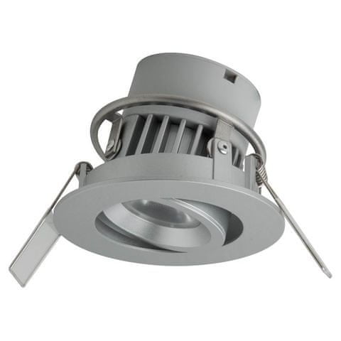 MEGAMAN MEGAMAN LED vstavané svietidlo SIENA F28100RC-w 828 8W Dim2Warm IP44 strieborná 230V F28100RC-w / 828 / SV