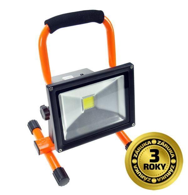 Solight Solight LED reflektor 20W, přenosný, nabíjecí, 1600lm, oranžovo-černý WM-20W-D
