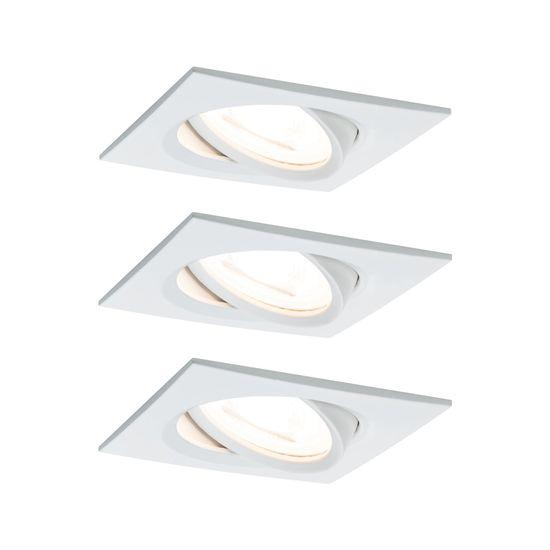 Paulmann Paulmann Vstavané svietidlo LED Nova hranaté 3x6,5W biela mat výklopné 934.54 P 93454 93454