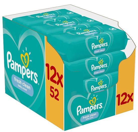 Pampers Vlhčené ubrousky Fresh Clean 12x52ks
