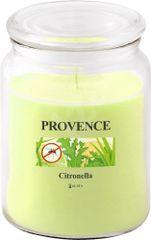 PROVENCE Svíčka ve skle s víčkem 510 g, citronela