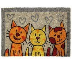 Rohožka Kokos Tři kočky 40x60