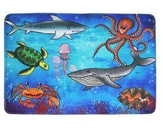 Vopi Protiskluzový kusový koberec Sea world 76,5x117