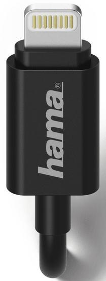 Hama Síťová nabíječka s kabelem, Apple Lightning, MFI, 1 A, černá 173859