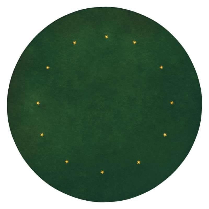 Emos LED podložka pod vánoční strom, zelená, 1 m, časovač