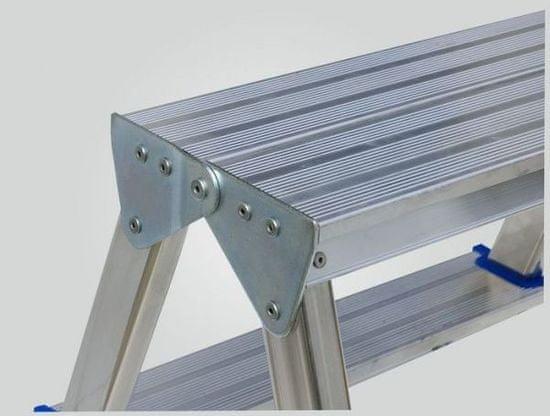 Elkop oboustranný hliníkový žebřík / schůdky 2 x 1, nosnost 150 kg