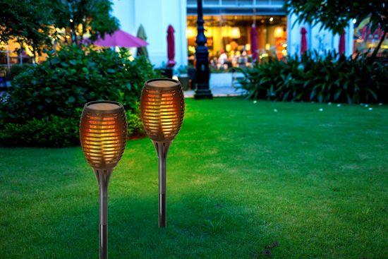TimeLife Solární lampa imitace plamene 30 LED