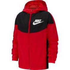 Nike fantovska vetrovka Nike Sportswear, XS, rdeča - Odprta embalaža
