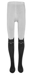 EWERS dekliške nogavice, motiv muce, 92, črne