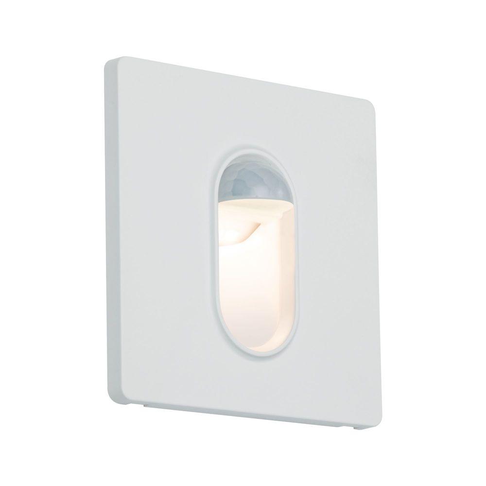 Paulmann Paulmann vestavné svítidlo do zdi hranaté 2,7W 2700K bílá pohybové čidlo 929.23 P 92923 92923