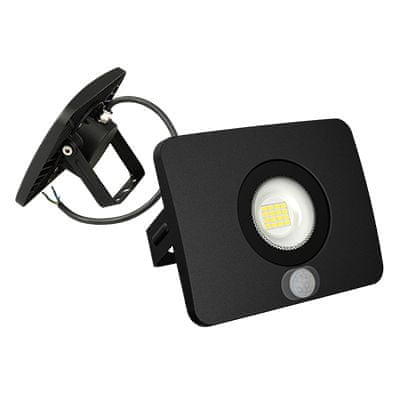 LFI LFI LED reflektor 10W 5000K černý s čidlem FLS-10BD
