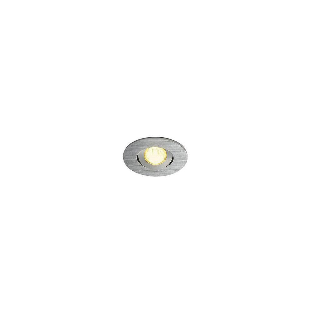 BIG WHITE BIG WHITE NEW TRIA MINI, vestavné svítidlo, LED, 3000K, kulaté, kartáčovaný Al, 30°, vč. mini konektoru, upínacích pružin 113986