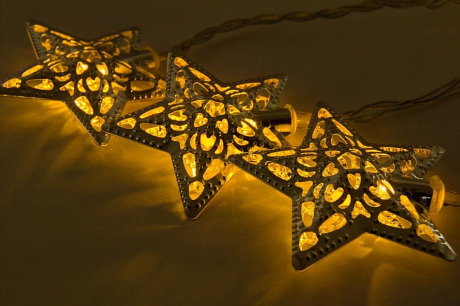 DecoLED DecoLED LED světelný řetěz - 7 m, hvězdičky