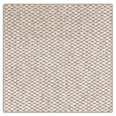 Vopi Kusový koberec Nature světle béžový čtverec 60x60