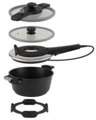 Remoska večnamenski komplet za kuhanje T41/41 Tria Grey, siv - Odprta embalaža