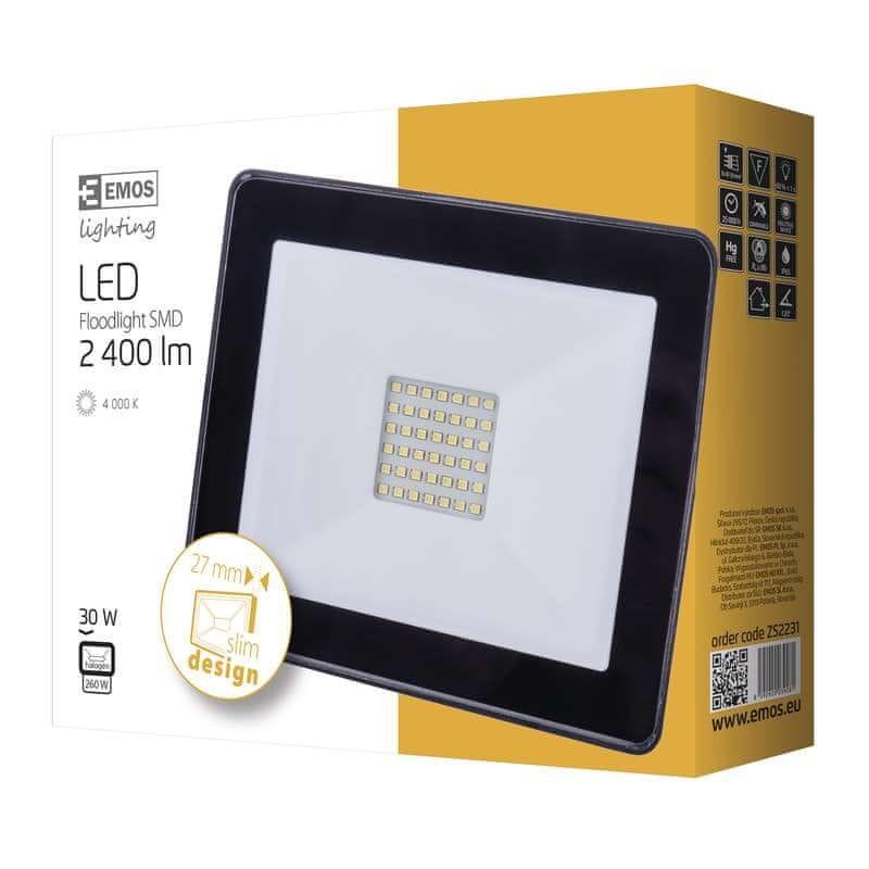 Emos EMOS LED reflektor HOBBY SLIM, 30W neutrální bílá 1531221031