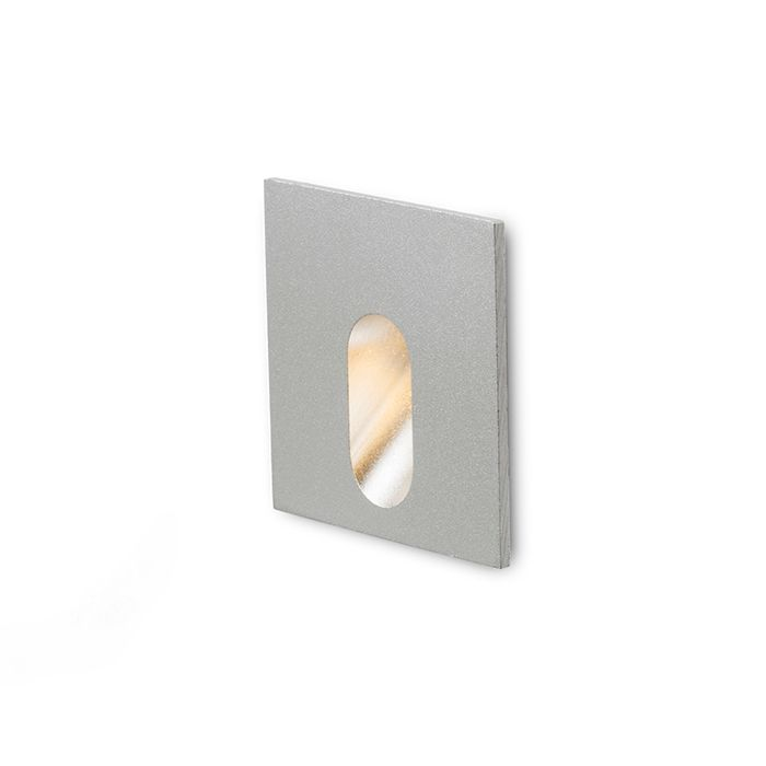 RED Design Rendl RENDL MEMPHIS SQ zápustná do stěny stříbrnošedá 230V LED 3W 60° 3000K R12688