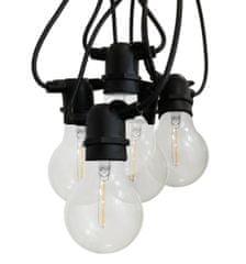 Century CENTURY LED FIESTA Světelný řetěz s 10 LED žárovkami čiré 6W E27 2200K 500Lm IP44 CEN FSTACL-062722