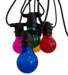 Century CENTURY LED FIESTA Světelný řetěz s 10 LED žárovkami barevné 6W E27 200Lm IP44 CEN FSTACO-062722