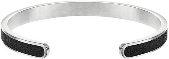 Gravelli Pevný ocelový náramek s betonem Fusion Thin ocelová/atracitová GJBWSSA101UN