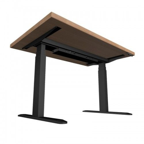 UVI Desk dvižna (Sit-Stand) električna miza, naravni hrast