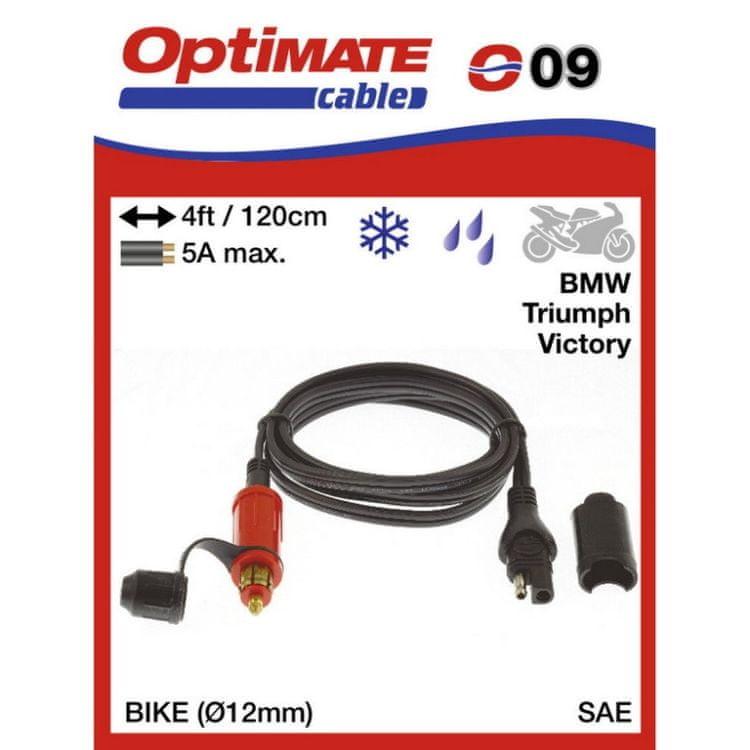 propojovací kabel O09(SAE-79) se zásuvkou 12V BIKE 12 mm - SAE