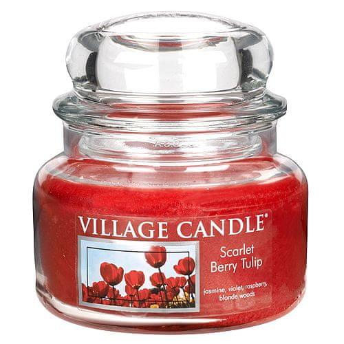Village Candle Sveča v steklenem kozarcu Vaška sveča, Tulipani, 312 g