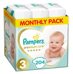 Pampers Premium Care 3 Midi Pelenka (6-10 kg) 204 db