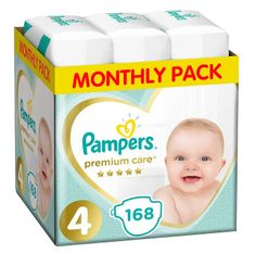 Pampers Premium Care 4 Maxi Pelenka (9-14 kg) 168 db