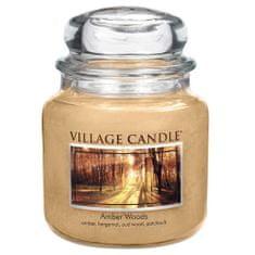 Village Candle Świeca w szklanym słoju Świeca wiejska, Bursztynowy Las, 454 g